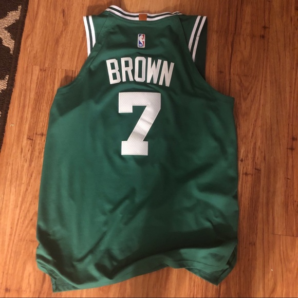 low priced 852cf 3f6df Jaylen Brown Celtics Jersey Stitched